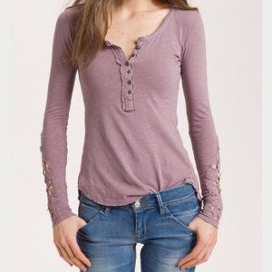 Free People Pink Button Blouse M